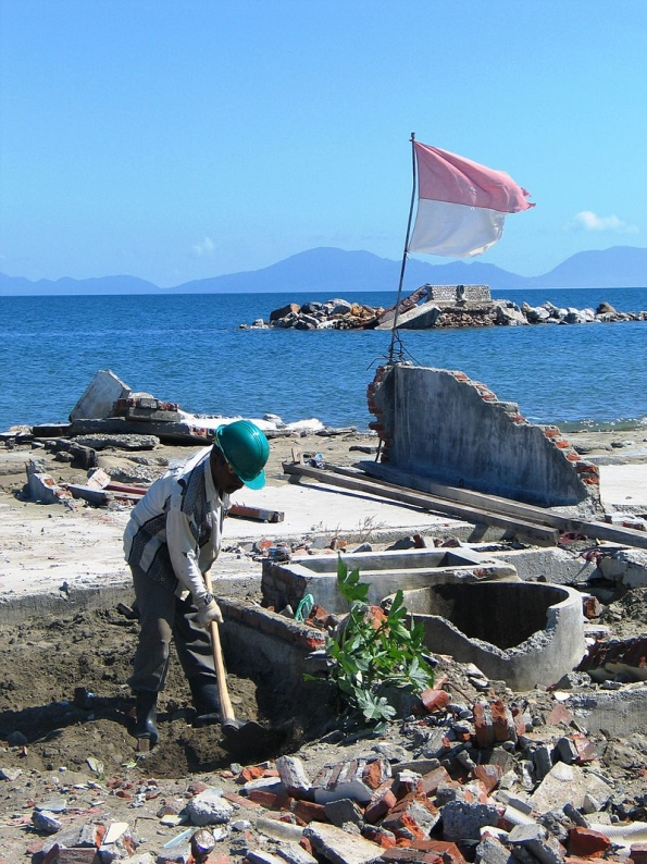 Banda Aceh, Indonesia after the 2004 tsunami