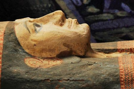 Mummies and coffins in Leiden